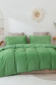 Dreamaker Corduroy Quilt Cover Set - 300478