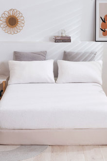 Dreamaker Tedding Fleece Fitted Sheet Set - 300479