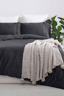 Dreamaker Ripple Poly Velvet Quilt Cover Set - 300659