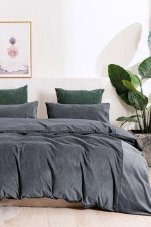 Dreamaker Corduroy Quilt Cover Set - 300660