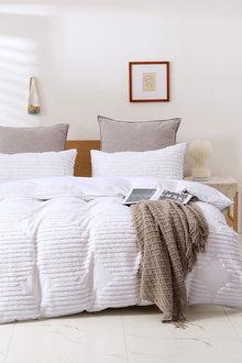 Dreamaker Cotton Vintage Washed Tufted Quilt Cover Set - 300664