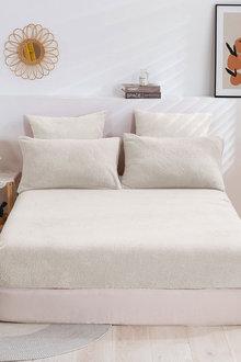 Dreamaker Tedding Fleece Fitted Sheet Set - 300666