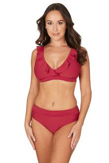 Nip Tuck Swim Alpha Texture Paprika Eva Tummy Control Bikini Set Swimsuit - 300743
