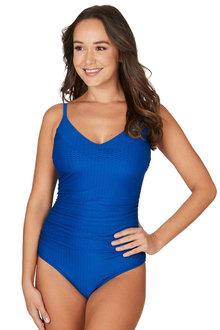 Nip Tuck Swim Omega Blue Edith Tummy Control One Piece Swimsuit - 300746