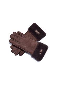 Comfort Me UGG Sheepskin Leather Suede Button Gloves - 300914