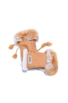 Comfort Me UGG Fingerless Sheepskin Leather Gloves Womens Cindy - 300919