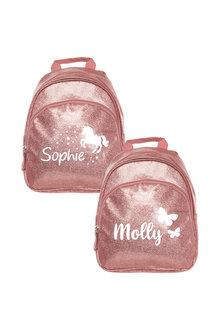 Personalised Sparkle Mini Pink Backpack - 301421