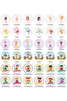 Personalised Lil Super Stars 90 Round Labels - 301453