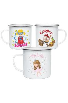Personalised Lil Super Stars Enamel Mug - 301459