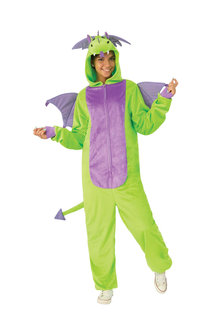 Rubies Green Dragon Furry Onesie Costume - 302140