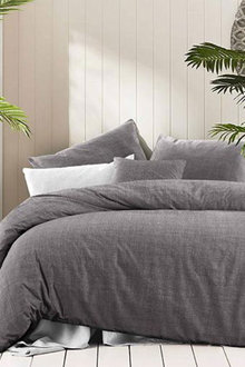 Amsons Fossil Cotton Quilt Cover Set Textured Print - 302798