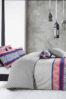 Amsons Cotton Reversible Quilt Cover Set Monacco - 302804