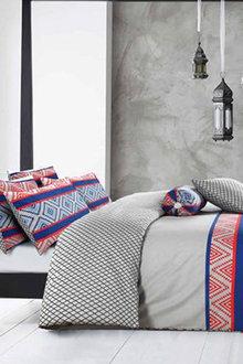 Amsons Cotton Reversible Quilt Cover Set Monacco + Extra Pillowcase - 302805