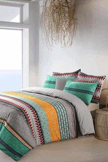 Amsons Cotton Reversible Quilt Cover Set Elegance - 302806