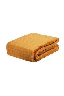 Adela Velvet Quilted Coverlet With Pillowcases - 303201