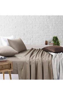 Amsons Sheet Set Fitted And Flat Sheet With Pillowcases - 303254