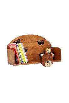 Mango Trees Wooden Wall Mounted Book Shelf Bear - 303360