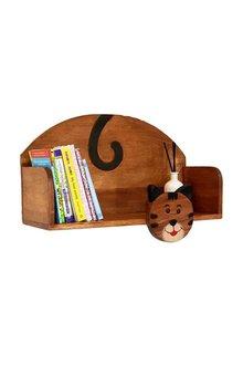 Mango Trees Wooden Wall Mounted Book Shelf Cat - 303361