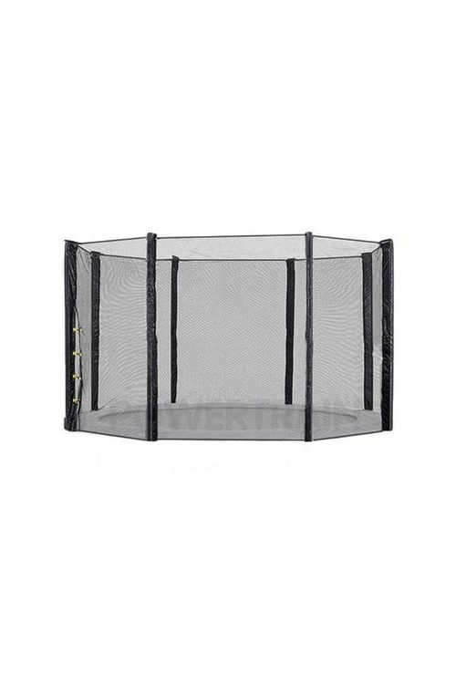 14Ft Replacement Round Outdoor Trampoline Safety Net Enclosure 8 Pole