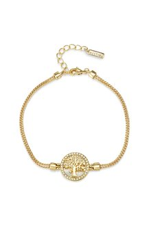 Mestige Gold Maple Tree of Life Bracelet with Swarovski® Crystals - 303561
