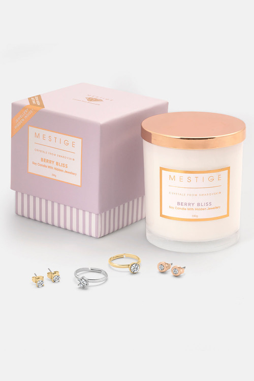 Mestige Berry Bliss Scented Soy Candle with Hidden Jewellery