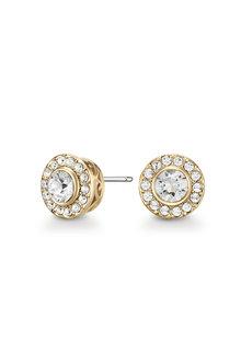 Mestige Golden Emmie Earrings with Swarovski® Crystals - 303572