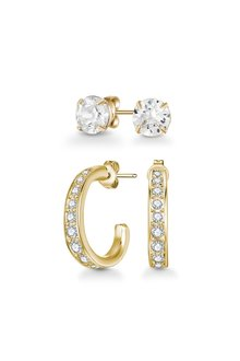 Mestige Golden Regina Earring Set with Swarovski® Crystals - 303575