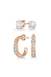 Mestige Rose Gold Regina Earring Set with Swarovski® Crystals - 303576