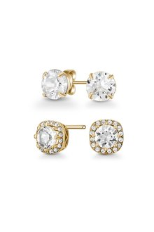 Mestige Golden Yasmin Earring Set with Swarovski® Crystal - 303578