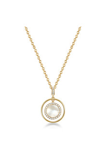 Mestige Golden Touchstone Necklace with Swarovski® Crystals - 303585