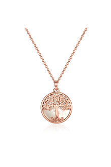 Mestige Rose Gold Willow Tree of Life Necklace with Swarovski® Crystals - 303587