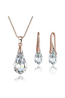 Mestige Rose Gold Drop Set with Swarovski® Crystals - 303589