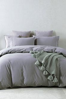 Royal Comfort Vintage Washed 100 % Cotton Quilt Cover Set - 308793