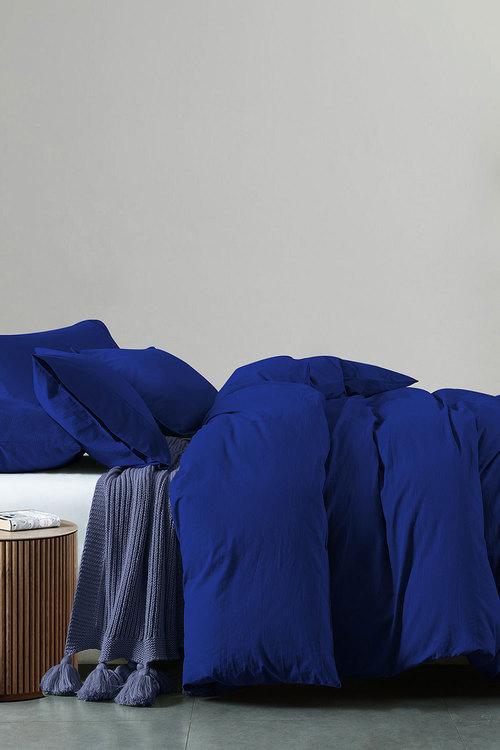 Royal Comfort Vintage Washed 100 % Cotton Quilt Cover Set