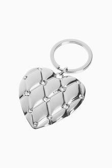 Next Quilted Heart Keyring - 309045