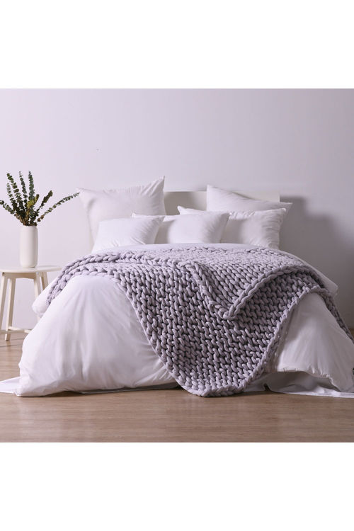 Serene 9KG Hand Woven Knit Weighted Calming Blanket 180x200cm