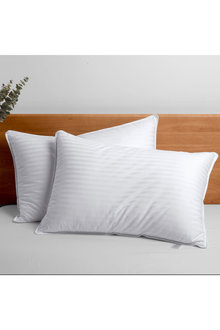 Dreamaker Rolled Microfibre Pillow Twin Pack - 310659