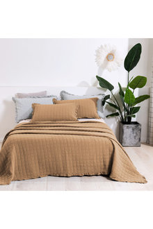 Dreamaker Premium Quilted Sand Wash Coverlet - Rust - 310665