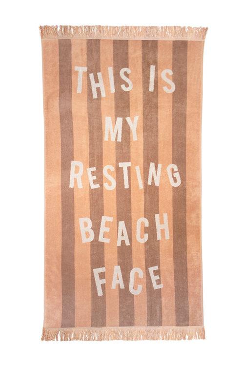 Jacquard Egyptian Cotton Beach Towel Beach Face