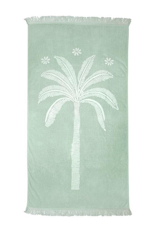 Jacquard Egyptian Cotton Beach Towel Oasis