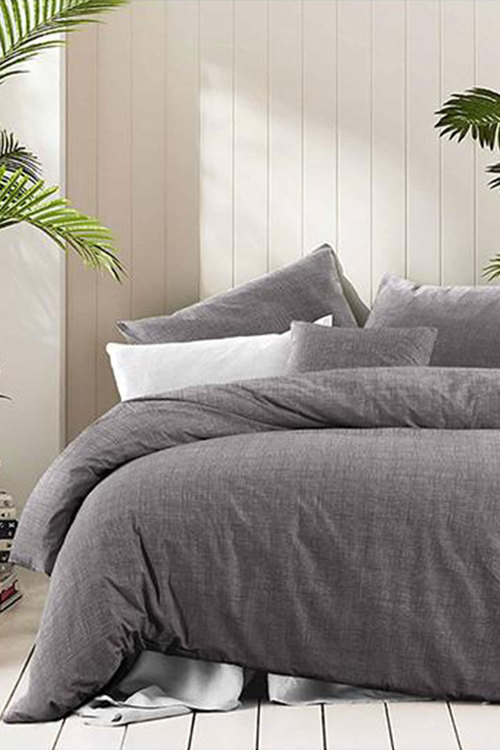 Amsons Quilt Cover Set Fossil Grey