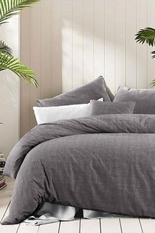 Amsons Quilt Cover Set Fossil Grey - 310728