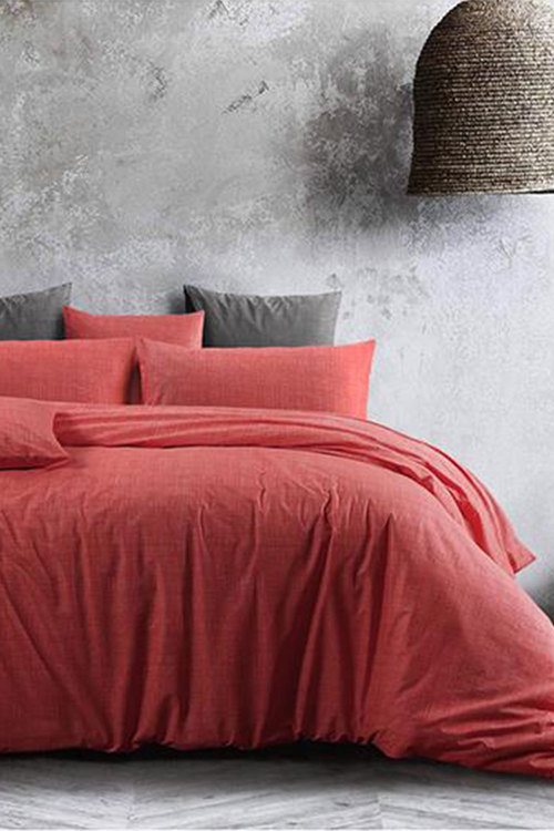 Amsons Quilt Cover Set Living Coral