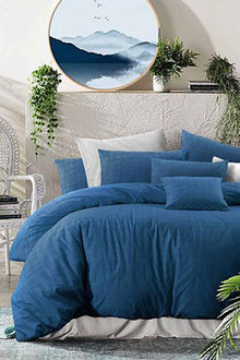 Amsons Quilt Cover Set Nautical Twilight Blue - 310730