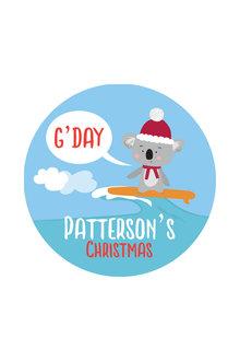 Personalised Aussie Christmas Coaster Set of 4 - 310867