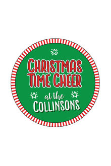 Personalised Christmas Time Cheer Coaster Set of 4 - 310868
