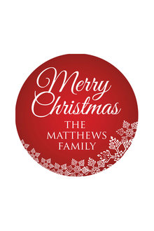 Personalised Christmas Red Coaster Set of 4 - 310871