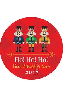 Personalised Christmas Nutcracker Coaster Set of 4 - 310872