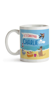 Personalised Aussie Christmas Ceramic Mug - 310898