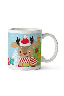 Personalised Christmas Baby Reindeer Ceramic Mug - 310909